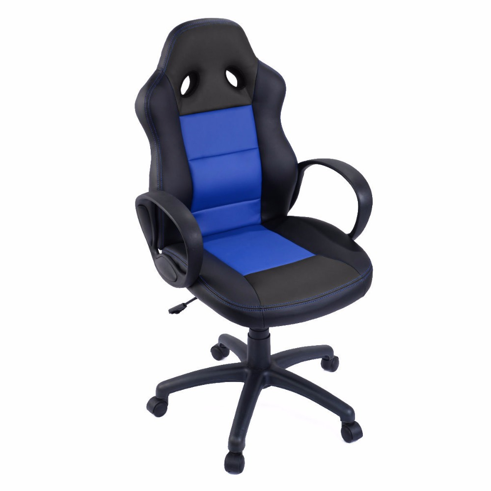 Goplus New High Back Race Car Style Bucket Seat Computer Home Office Desk Chair Ergonomic Lifting Gaming Chair HW51514 240340 high quality back pillow office chair 3d handrail function computer household ergonomic chair 360 degree rotating seat