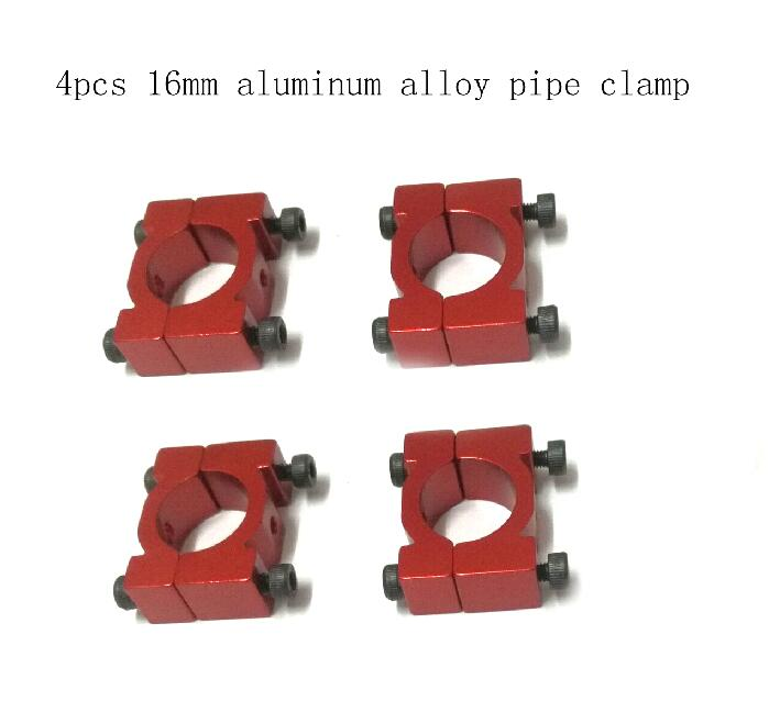 Multi axis flight pipe clamp 16mm aluminum alloy pipe clamp for Quad & Hexa Copter 4 set / 1 lot flight ft10 16