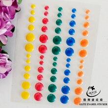 Sugar Sprinkles Self-adhesive Enamel Dots Resin Sticker for Scrapbooking/DIY Crafts /card Making Decration