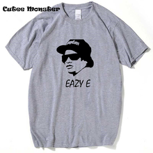 Eazy E T Shirt Men hip hop rap N.W.A biggie tupac 2pac dr dre ice cube gangsta rap tshirt White/Gray Tee Size 3XL(China)