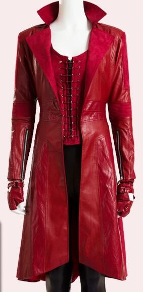 2016 New Movie Captain America 3 Civil War Costume Wanda Maximoff Scarlet Witch Cosplay Costume Adult Women Halloween Costume