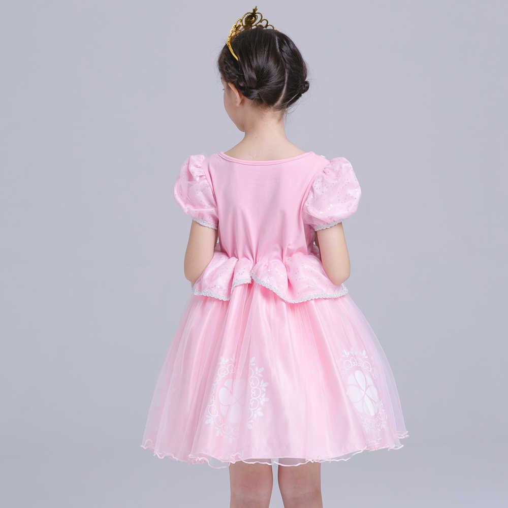 חג המולד סופיה נסיכת שמלת ילדים בנות שינה יופי סופיה ילד ילדה אורורה תינוק בגדי vestido מסיבת שמלה