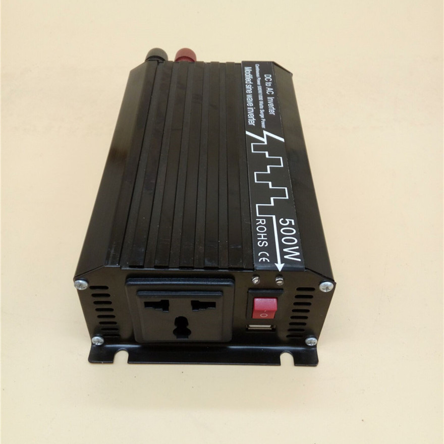 500W/1000W Modified Sine Wave Inverter DC 12V 24V 48V to AC 110V 220V,Off Grid Inversor Portable 500W/1000W Power Inverter