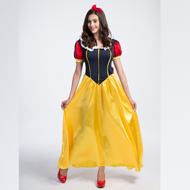 Sexy Princess Snow White Costume Adult Plus Size Cosplay Roupas Woman Carnival Costumes For Adults Halloween Costumes For Women-In Holidays -4720