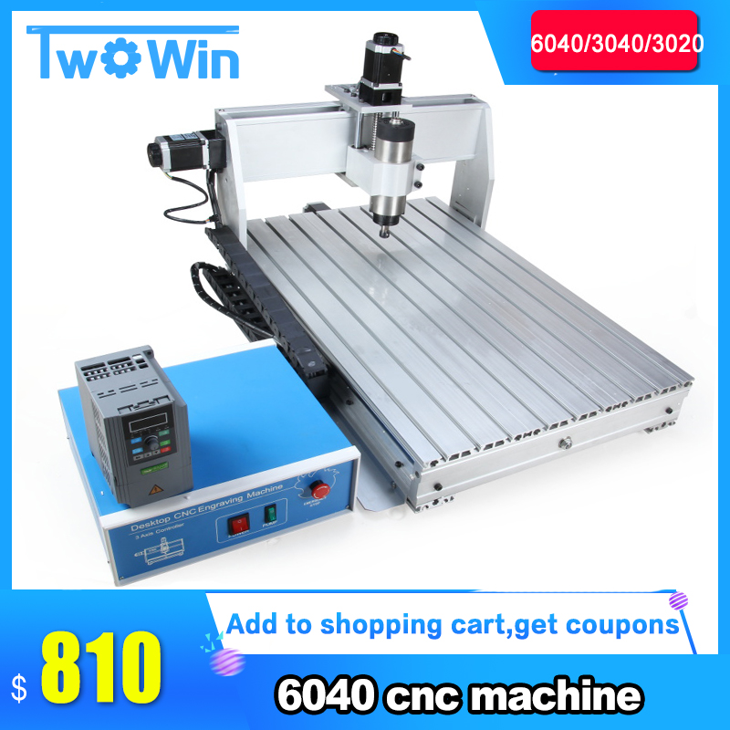 Us 669 6 38 Off 800w 1 5kw Cnc 6040 3 Axis Cnc Router Cnc Wood Carving Machine Usb Mach3 Control Woodworking Milling Engraver Machine In Wood