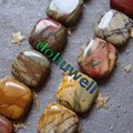 ¡ Caliente!!! 12mm Piedra Natural Picasso Jasper loose beads Square 33 unids/lote Envío Gratis
