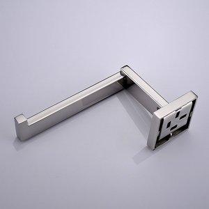 Image 3 - ローリングプロモーション高品質ウォールマウントクローム仕上げ 304 sus ステンレス鋼トイレロール紙ホルダー浴室アクセサリー