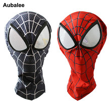 Amazing Spider Maschera di Uomo 3D Stampa Digitale Red Black Spider Lenti Maschera Rifornimenti Del Partito di Halloween Superhero Cosplay Prop(China)