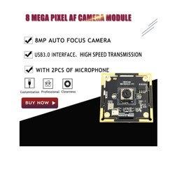 Moduł kamery USB Micro usb3.0 czujnik IMX179 automatyczne ustawianie ostrości moduł kamery 8MP