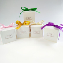 White 6x6x6CM Paper Gift Packing Box Gift Bags with Ribbon Wedding Favors Sweet Candy Boxes Birthday Party Decorations Gift Box цена и фото