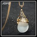 Big Sale Brand Rose Gold Plated Opal Pendant Handmade Unique Long Chain Necklace