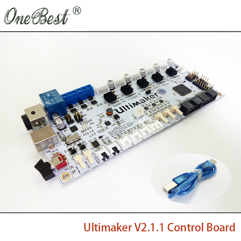 2017 New 3D printer accessories Ultimaker V2.1.4 Control Board Ultimaker 2 Generations Board Finished Board Free shipping 3d printer parts ultimaker v2 control board ultimaker 2 generations board interface board with lcd genuine spot free shipping