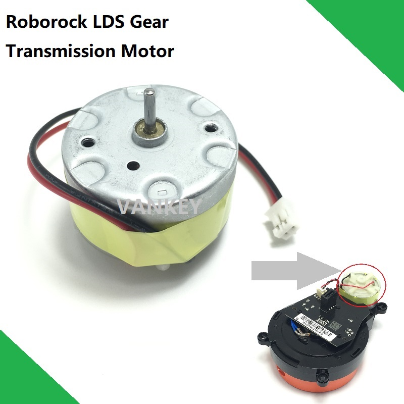Gear Transmission Motor for XIAOMI Roborock S50 S51 S55 Robot Vacuum cleaner Spare Parts Laser Distance Sensor LDS(China)