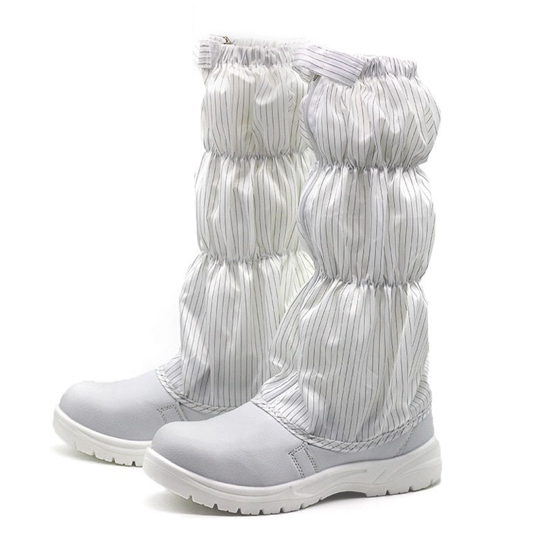 Bianco scarpe di sicurezza anti statica di alta tubo lungo stivali anti static anti acaro della polvere trasporto scarpe di sicurezza elettrica scarpe di depurazione