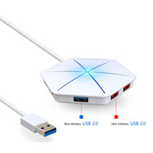 USB 3.0 2.0 HUB High Speed External 6 Port Usb Splitter with Micro Usb Interface SD/TF Card Reader for PC Laptop Computer цена