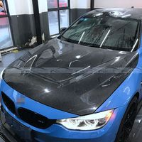 Car Styling carbon fiber Hood Bonnet For BMW F80 F82 F83 M3 M4 GTS style hood