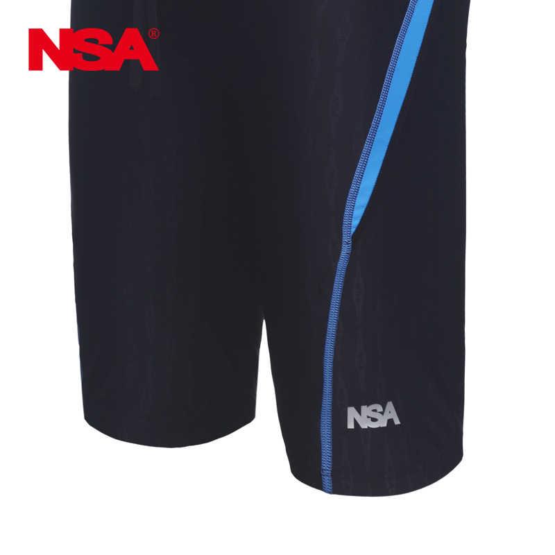 NSA stroje kąpielowe męskie rekina zawodowe pływanie kąpielówki jammer chłopca konkurencji wyścigi swimwsuit spodnie pływać figi