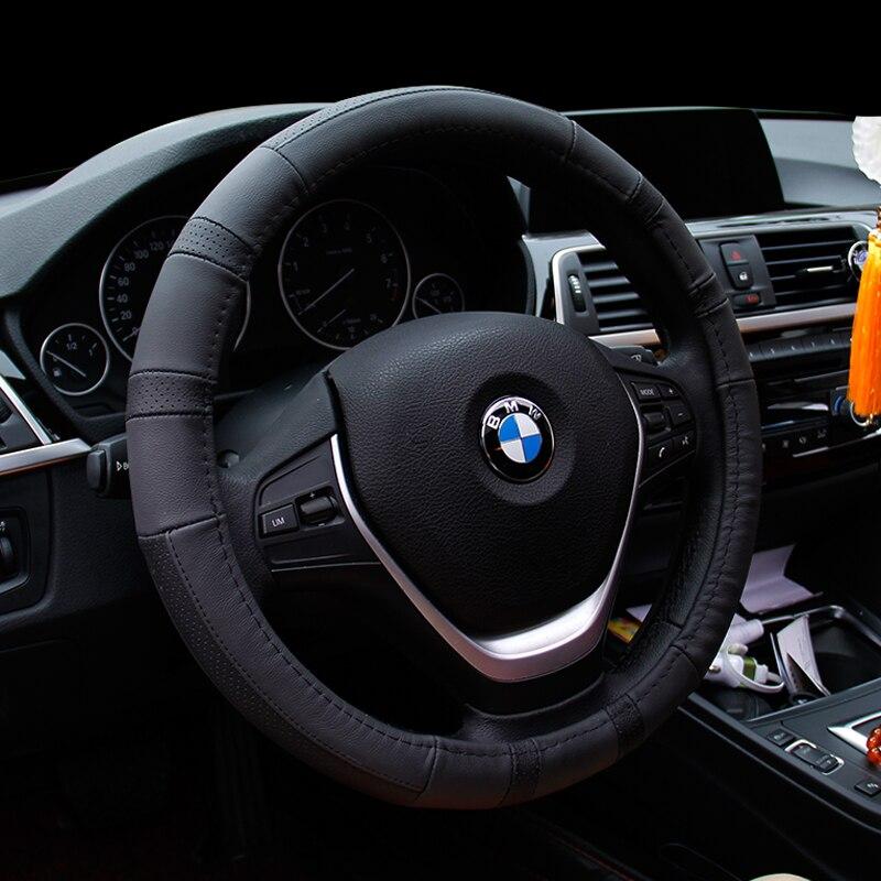 Couverture de volant de voiture pour BMW | Cuir cousu à la main, pour BMW E90 325i 330i 335i 525i 2017, nouvelle collection 523