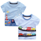 2pcs Baby Boys T Shirts Animal Pattern Kids T-shirts for Boys Clothes Children Short Sleeve Shirts Striped Boy Summer Tops Tees