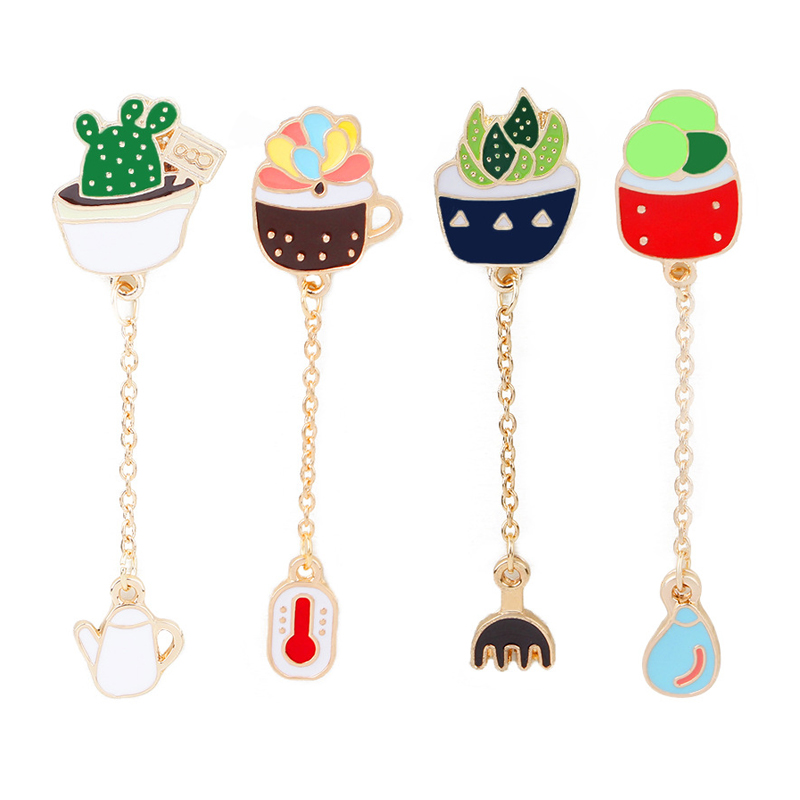 Jewelry & Accessories Jewelry Sets & More Bright Funny Cactus Plant Enamel Brooch Button Collar Pins Jewelry Brooches Pins Bag Denim Pin Badge Clothes Jewelry Gift For Kids