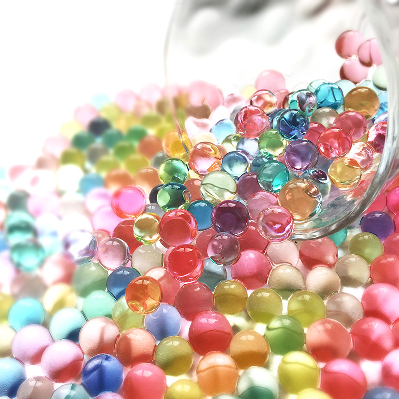 Bolas de Gel Plantas 2 Colores 3000PC Bolas de Gel Planta de Agua Flor Cristal Suelo Suelo Barro Agua Perlas Decoraciones de Boda Bola de Agua Color Mezclado