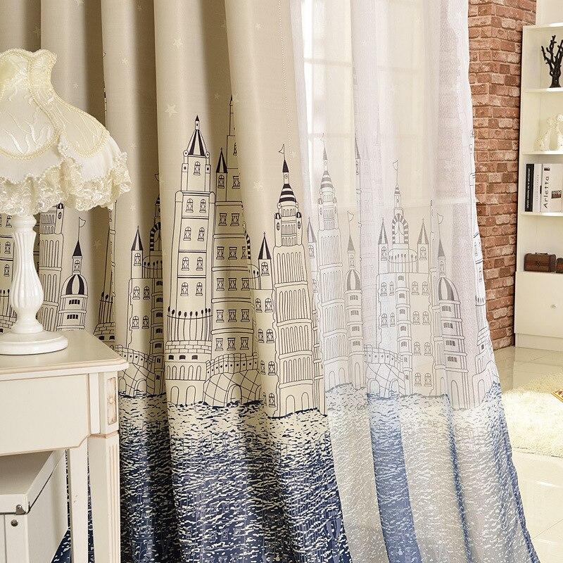 (Painel Único) Janela de Perfuração Cortinas Quarto Mediterrâneo - Têxteis domésticos - Foto 5