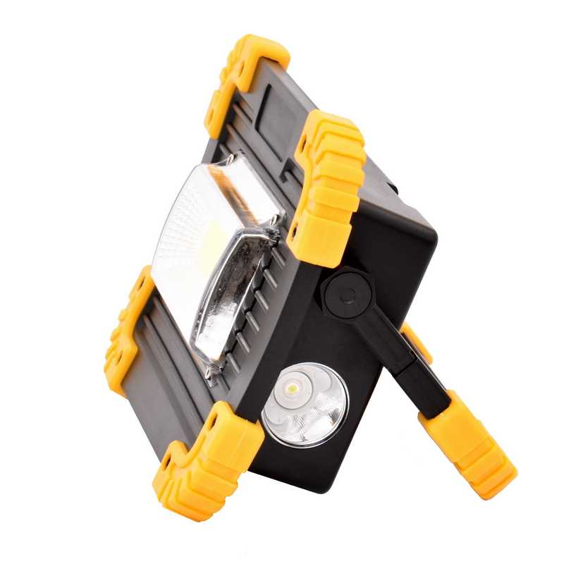 LED Flood Light 10W Worklight Projector Reflector LED COB Chip Floodlight Spotlight Outdoor Lighting USB Rechargeable Work Light