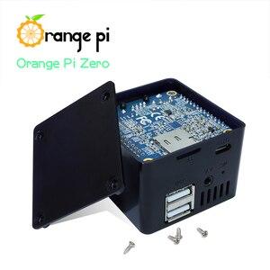 Image 5 - Оранжевый Pi Zero 256MB + плата расширения + черный чехол, мини набор с одной доской
