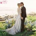 Chiffon Uma Linha de vestidos de Casamento Boêmio Vestidos de Casamento Romântico Sexy side Dividir 2016 peru vestido de capina vestido de noivas Z213