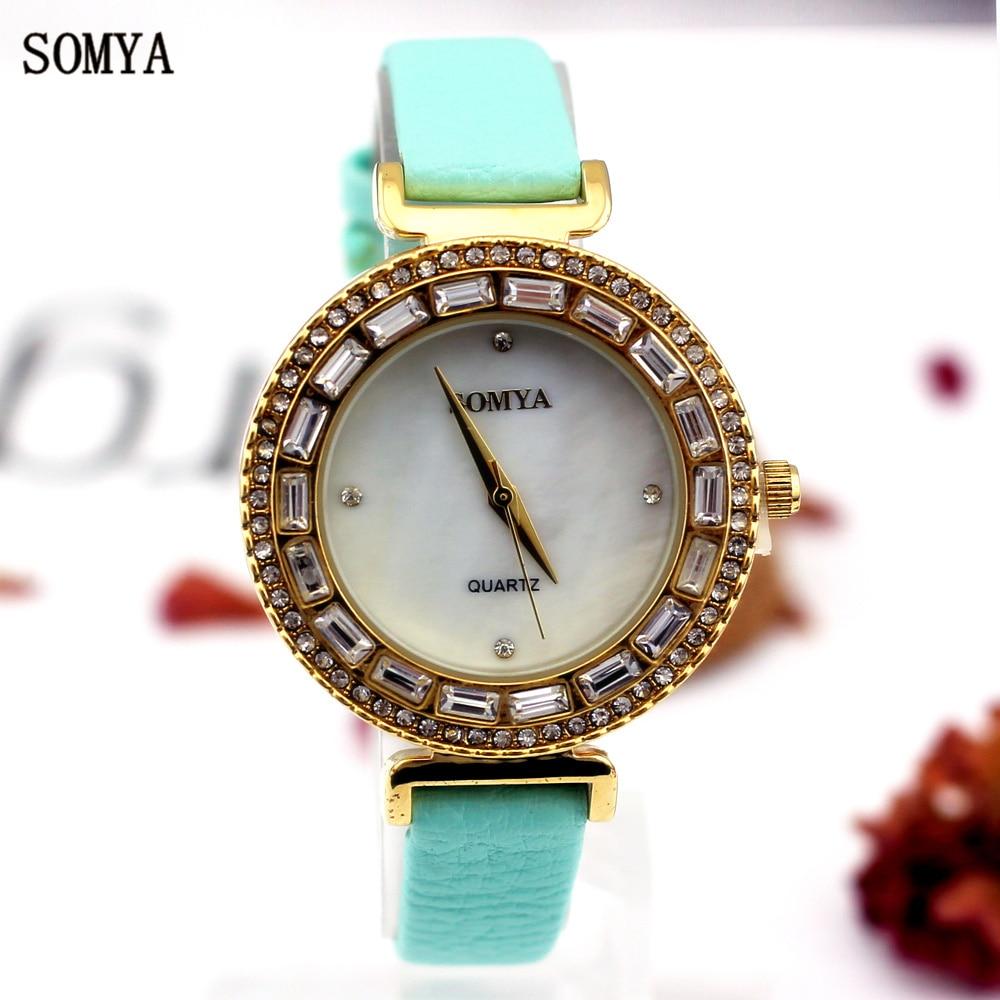 Las mujeres de moda Casual Watch 30M impermeable de lujo Rhinestone - Relojes para mujeres
