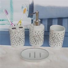 Ceramic bathroom accessories set, toothbrush holder, decal sanitary