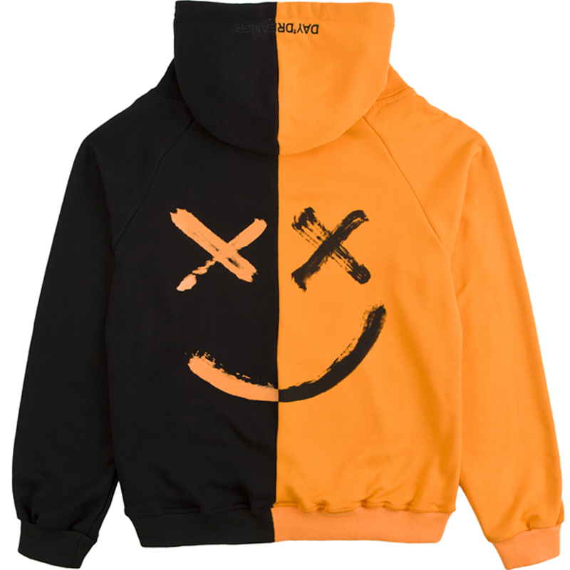 Pwnage Haxed Hoodie Close up Back Black and Orange
