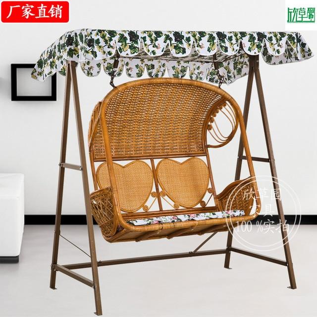 True Vine Double Hammock Rattan Basket Chair Swing Hanging Chair Indoor  Courtyard Outdoor Leisure Rattan Chair