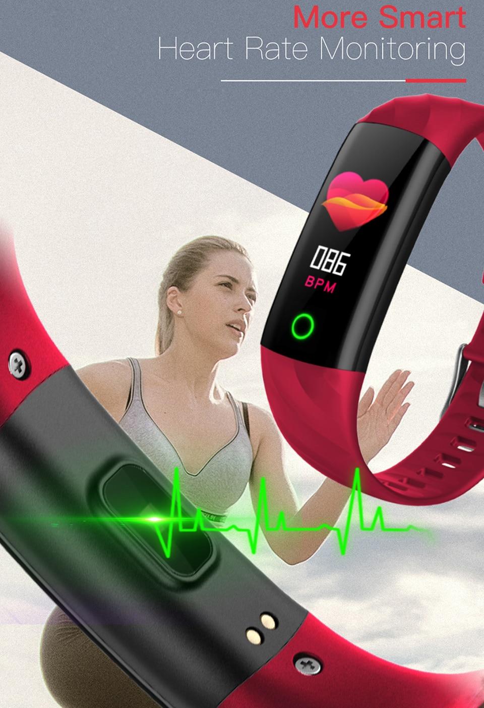 S5 esporte pulseira inteligente ip68 tela colorida