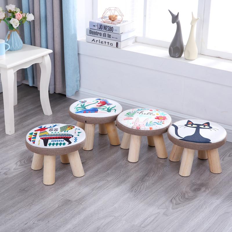 Small stool fashion domestic cloth art small sofa stool living room tea  table short creative small bench stool for kids