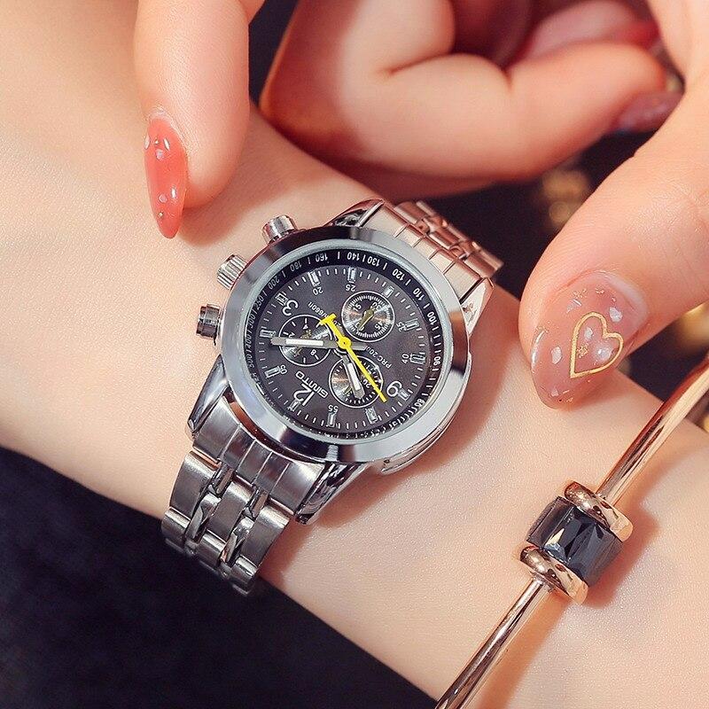 GIMTO 2018 Women Bracelet Watches Steel Dress Lady Lovers Quartz Watch Female Male Fashion Casual Wristwatch relogio feminino 1