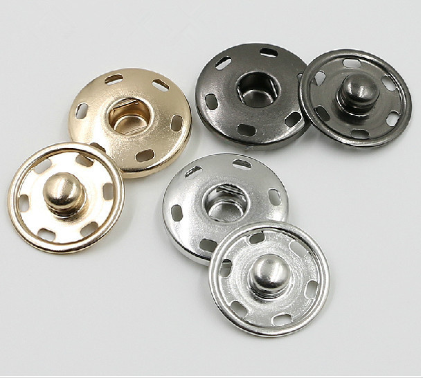 metal brass press snap button fastener studs garment sewing on