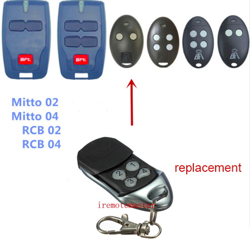 Buy bft mitto 02 04 rcb02 rcb04 garage door opener remote control replacement - Rolling code garage door remote ...