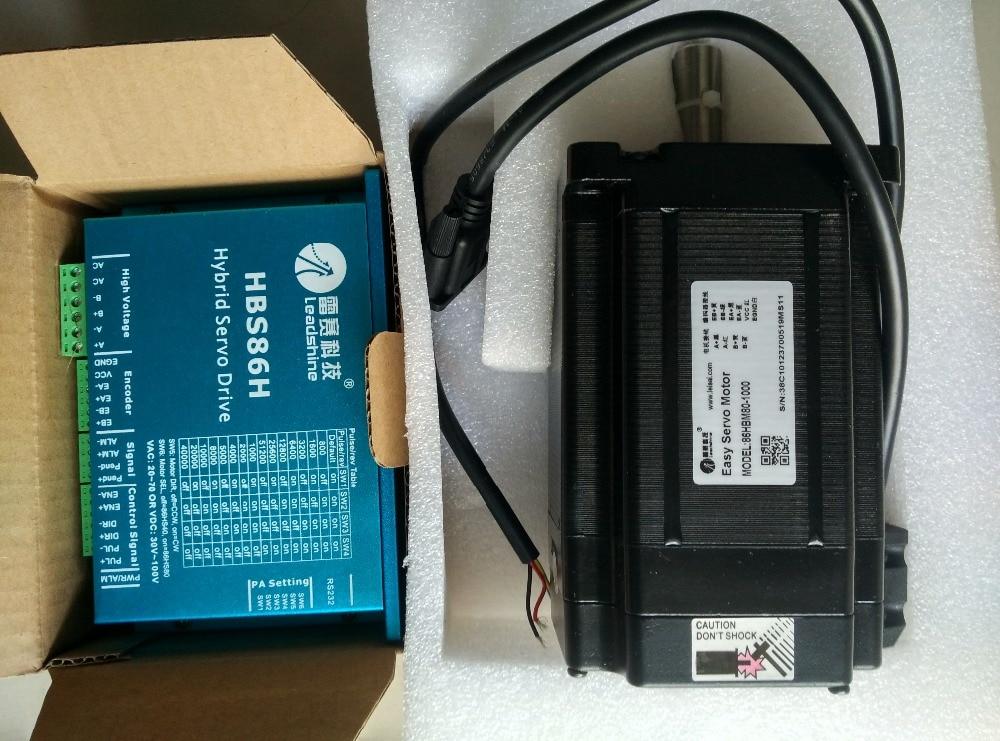 NEMA34 8N. M 1144oz-in Leadshine 2 phase 86mm Hybride servo en boucle Fermée stepping motor drive kit HBS86H + 86HSM85-E1
