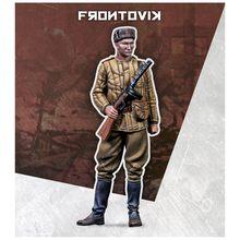 Масштаб 1/35, 2 мировая война, советский автомат PPSh41, Солдат Второй мировой войны, миниатюры, Неокрашенная смола, модель, набор, фигурка, беспла...