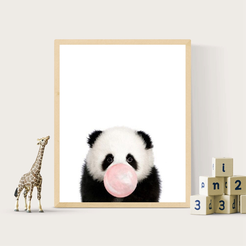 Panda Canvas Painting Kids Room Decor