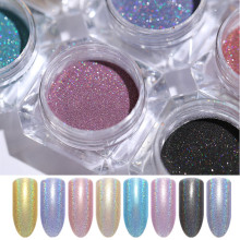 hot deal buy holographic nail glitter powder shiny holo acrylic nail art glitter shimmer dust chrome pigment diy manicure nail decoration