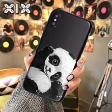 XIX para Funda iPhone 11 Pro caso 5 5S 6S 6 7 8 Plus X XS X Max Panda negro iPhone 7 caso de TPU suave para iPhone XR caso(China)