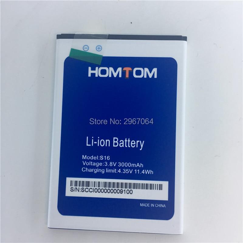 Mobile phone battery HOMTOM S16 battery 3000mAhOriginal 5.5inch MTK6580 battery Mobile Accessories Original battery