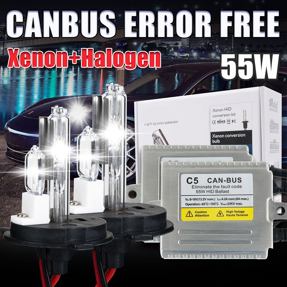 H4 xenon kit Canbus 55W 12V H4 halogen and xenon HID kit h4 2 car light source kit xenon h4 2 55w