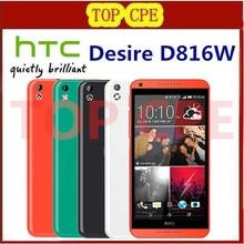 Original HTC Desire D816W Phone 5.5'' Dual SIM Card Quad Core 1.6GHz 8GB ROM 13.0MP 1080P 3G GPS WIFI Smartphone Refurbished