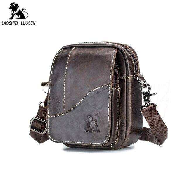 2019 الرجال حقائب اليد العصرية جلد طبيعي الذكور حقيبة ساع رجل Crossbody حقيبة كتف حقائب السفر للرجال هدايا للأب