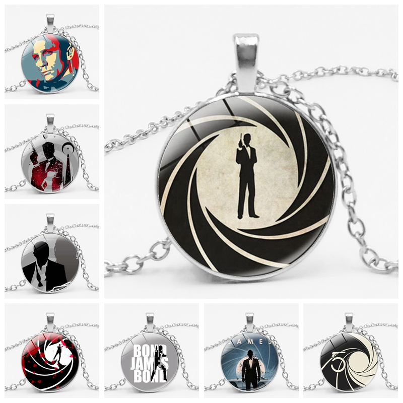 HOT! 2019 New James Bond 007 Movie Necklace Glass Cabin Men's Gift Pendant Glass Dome Statement Necklace Jewelry image