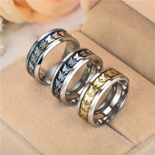 2018 New Sale High Quality Stainless Steel rings for Women Men Bohemian Vintage Butterfly Ring on sale high polished stainless steel round cross rings for men