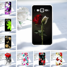 Case For Samsung Galaxy Grand Prime VE Duos G530 SM-G530H SM-G531H SM-G531F SM-G531H/DS Cover Silicone Painted Flower Shell black replacement repair part touch digitizer screen glass for samsung duos sm g530h galaxy grand prime with tools